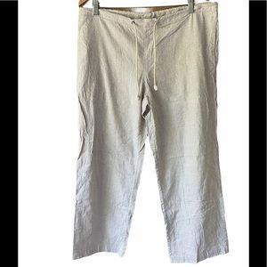 Polo Ralph Lauren Mini-Stripe Drawstring Crop Pant